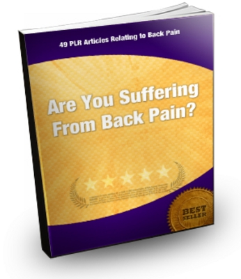 Product picture Back Pain - 49 PLR Articles
